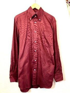 TETSU s.p.a■シャツ■イタリアンコットン■テツ■濃赤