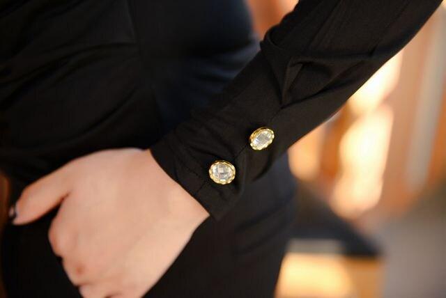 カジュアル★大人系のカシュクールブラウス (XL寸.茶) < 女性ファッションの