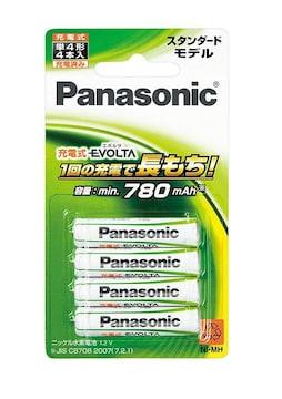パナソニック 充電式エボルタ 単4形充電池 4本パック