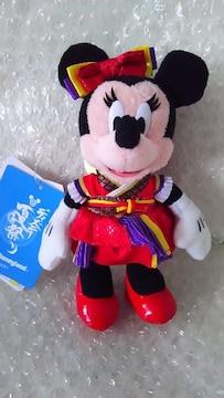 ディズニー夏祭り TDL 2014 ぬいぐるみバッジ ミニー