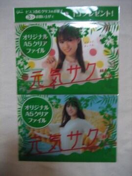 深田恭子 オリジナルA5クリアファイル全2種セット  グリコ イオン