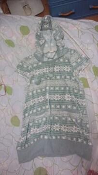 ニット生地のシャツ