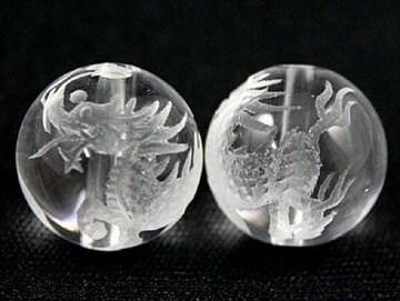 ☆天然水晶☆麒麟12mm☆手彫りビーズ☆1個