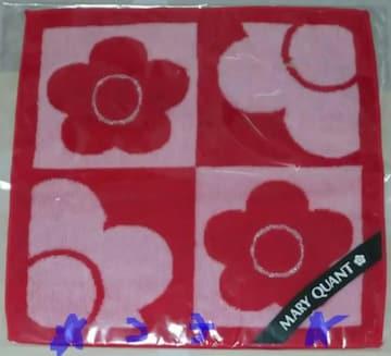 MARY QUANT マリークヮント デイジー格子2 ピンク ハンドタオル