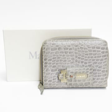 Max Maraマックスマーラ二つ折り財布 型押しレザー 良品 正規