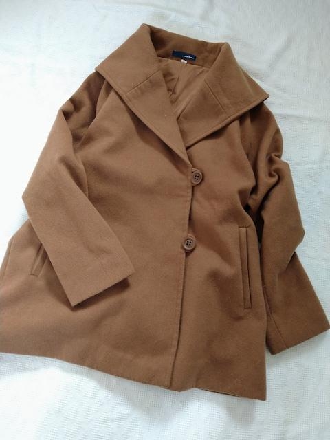 niko and…/大きな襟がかわいいミディ丈コート