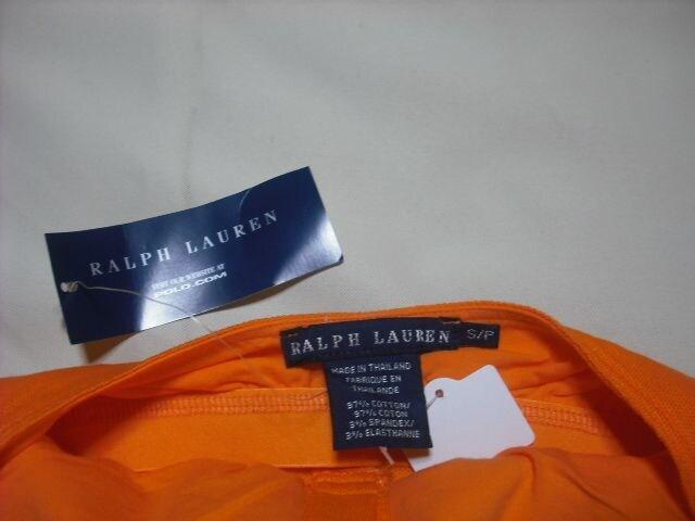 女 RALPH LAUREN ラルフローレン 橙 ポロキャミソール Sサイズ < ブランドの