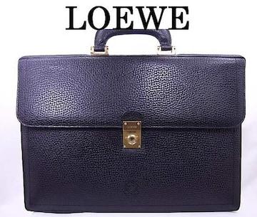正規品☆ロエベ LOEWE 高級レザー ビジネスバッグ 黒 美品★dot