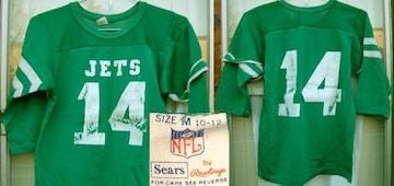 ビンテージ Sears フットボール JETS アメフト Tシャツ NFL