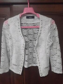 Salire。ビーズ装飾レースジャケット!極、美品。
