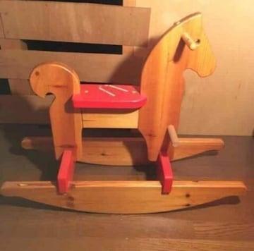 アンティーク ヴィンテージ 木製 子供用 ロッキングホース