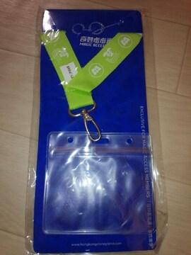 HKDL非売品モンスターズインクサリーマイクパスケース香港ディズニーランド