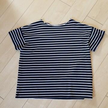 大きいサイズ ドロップショルダボーダーTシャツ カットソー