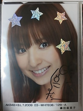 AKB48×B.L.T.2009 写真 篠田麻里子 直筆サイン入り!