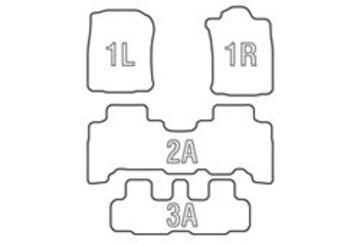 Clazzio 立体フロアマット ラバー ランクルプラド TRJ150 7人