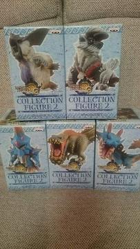 未開封 貴重!モンスターハンター モンハン コレクション フィギュア 2 全5種類セット!