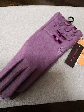 新品 CLATHAS  クレイサス 手袋 パープル
