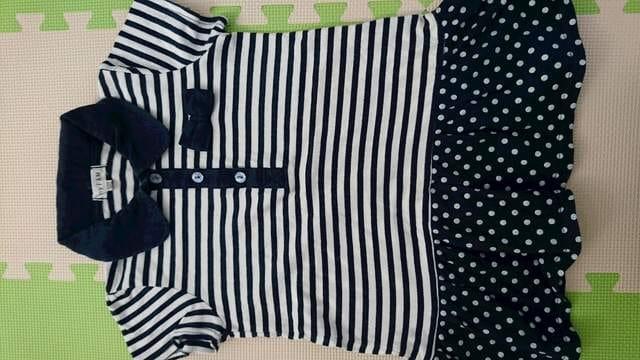 120女の子まとめ売り★anyFAM 半袖チュニック&長袖Tシャツ < キッズ/ベビーの