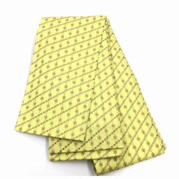 総レース 小花刺繍 アンティーク ゴールド 長尺 半幅帯 全通
