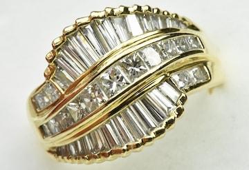 【鑑別】K18 ゴージャス 2.33ct ダイヤモンドリング 16号