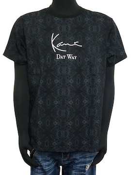 新品カールカナイ192K1016パイソン総柄クルーネックTシャツ黒L