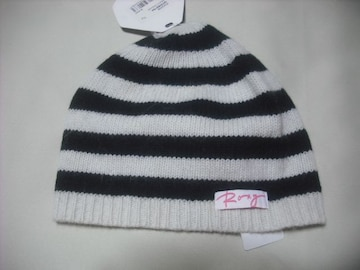 wb831 ROXY ロキシー アンゴラウール ニット帽 ボーダー
