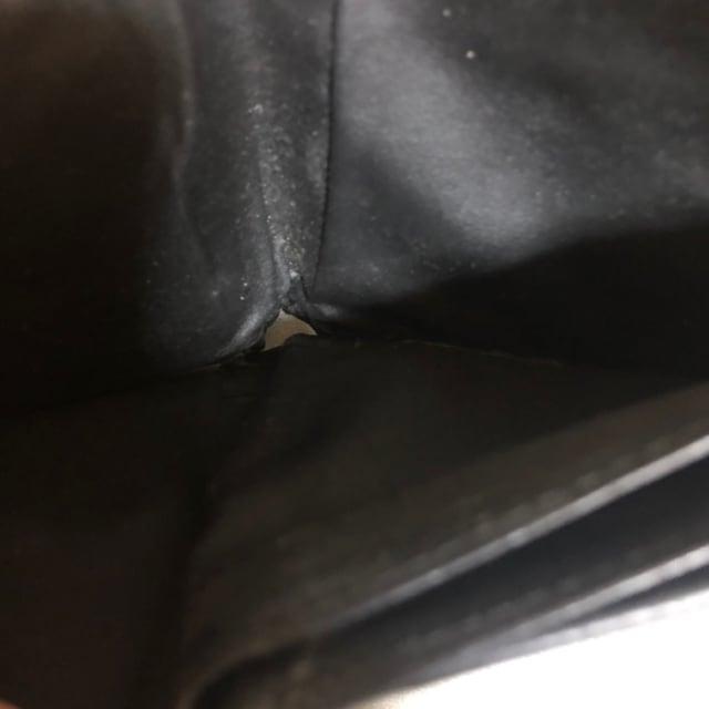 1スタ 超オススメ☆  イントレチャート ブラックレザー 折財布 < 男性ファッションの