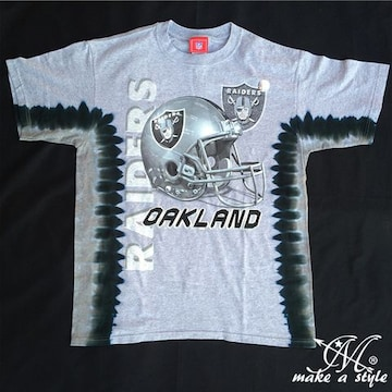 NFL レイダース RAIDERS タイダイ染 TEE 半袖Tシャツ 195M B系