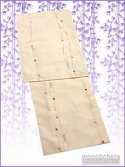 【和の志】夏の洗える着物◇絽Lサイズ◇丁子色系・簪◇RKL-4