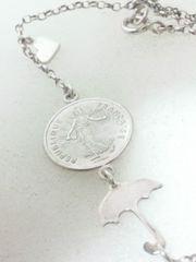 925SV 1フラン コイン アンブレラ ネックレス