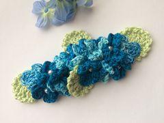 ハンドメイド バレッタ ブルーの紫陽花♪ あじさい ナチュラル