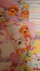 犬 Cotton Candy Puppy バラレターセット5種A16