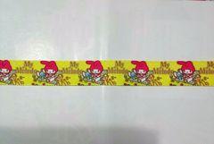 sale22mm巾 マイメロ(黄色)リボン1M