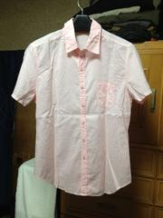 ロペピクニック アダムエロペ 細身 無地 半袖シャツ Sサイズ38 薄ピンク:桃色