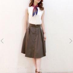 値下げ今期新品カーキスカート