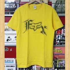FOX フォックス Tシャツ M イエロー バイク モトクロス レーシング