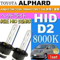アルファード D2C D2S D2R HIDバルブ 8000Kバーナー2本 as60468K