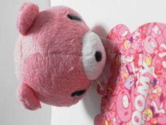 歌くじくんD賞脱グルーミー咬筋力じまんキーチェーンひとくちサイズピンク