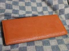 バーバリー 本革製二折長財布 Nブラウン・中古