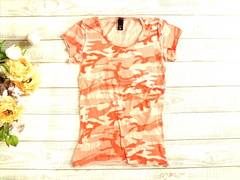 新品 USA輸入  ALTERNATIVE オレンジ 迷彩 ミリタリー Tシャツ