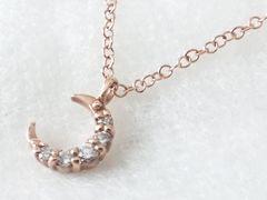 5162/4℃ヨンドシーピンクゴールドネックレスCZダイヤモンド定価4万円位