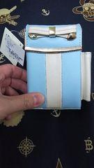 新品タグ付水色×白リボンシガーケース定価1800