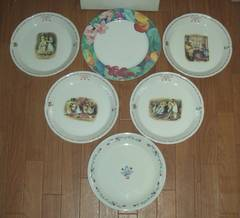 不思議の国のアリス公認ブランド(MAEBATA)スープ皿4枚他