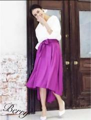 フィッシュテールスカート ミモレ丈【新品】purpleパープル