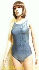 美品☆ellesse☆きら�Aメタリック&ロゴ競泳水着2196☆3点で即落