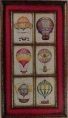 絵画 油彩 作者不詳『気球』真作保証