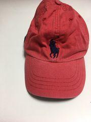 【Polo RalphLauren】ビッグポニー赤色キャップkids子供