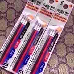 フリクション替芯(多色・スリム038用) 0.38mm(黒・赤・青)