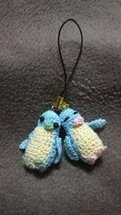 手編みのあみぐるみ、ペンギンペンギンストラップ