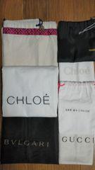 ◎まとめ売り◎ブランド 保存袋 FENDI GUCCI Chloe BVLGARI 等 7点